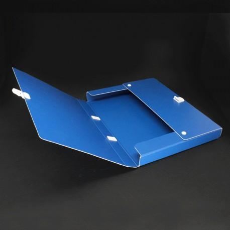 Prospektkoffer aus Karton blau DIN A4, prospektkoffer drucken