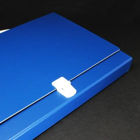 Prospektkoffer blau DIN A4, Prospektkoffer, Werbe-koffer, Büro koffer.