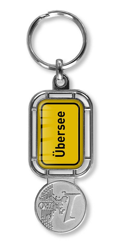 Schlüsselanhänger Einkaufs-chip Ort, Schlüsselanhänger mit Winkel-wagenlöser