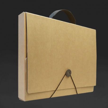 Tragemappe in Karton Optik, Mappen mit Tragegriff für DIN A4.