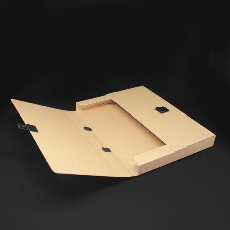 Prospektkoffer in karton optik, Werbe Prospektkoffer fuer DIN A4.