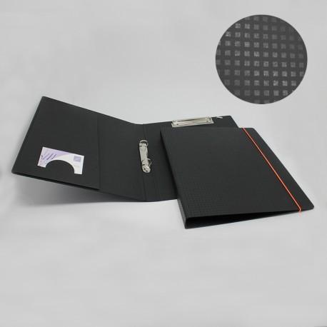 Seminarmappe schwarz mit Drucklack // Neon Gummizug für den Veranstaltung oder Büro.