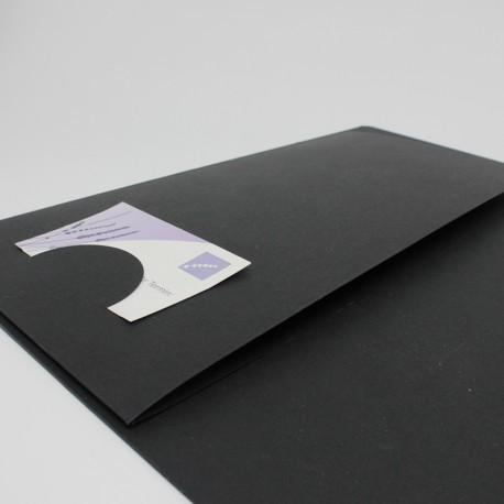 Seminarmappen schwarz mit Drucklack // Neon Gummizug