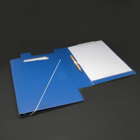 Klemmmappe aus Karton blau klemmmappe blau.