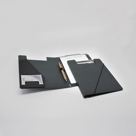 Klemmmappen DIN A5 aus Anthrazit-Karton