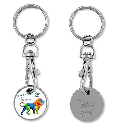 Einkaufs-chip, Schlüsselanhänger mit Einkaufs Münze, Schlüsselanhänger mit Einkaufsmünze.