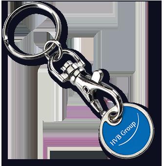 Einkaufswagen chip, Schlüsselanhänger mit Einkaufswagen chip.