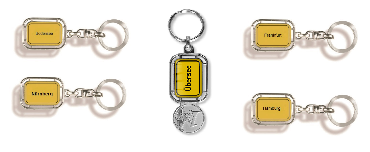 Schlüsselanhänger Ort, Schlüsselanhänger Stadt, Schlüsselanhänger Ortsschild, Schlüsselanhänger, Schlüssel-anhänger