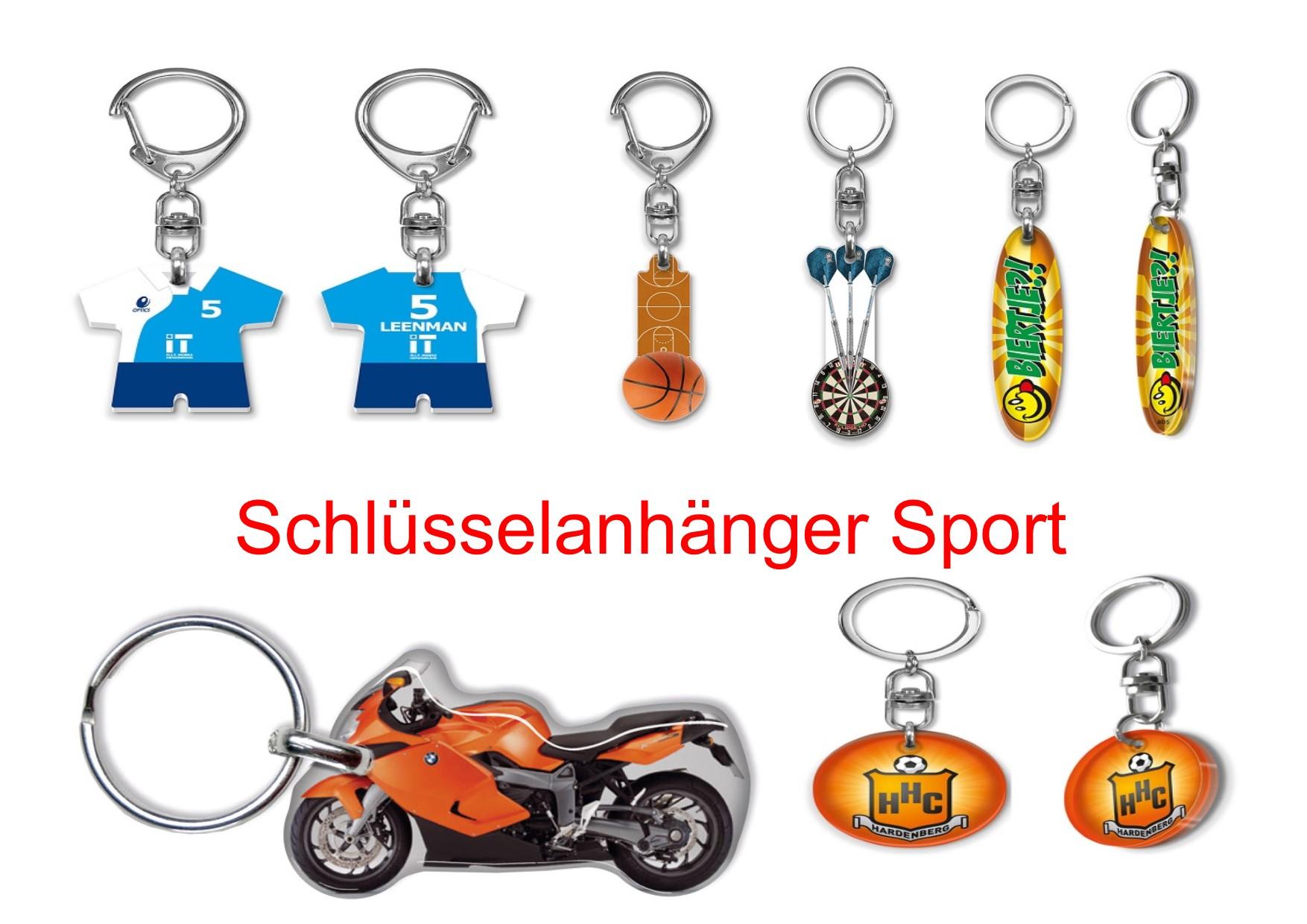 Schlüsselanhänger Sport, Schlüssel-anhänger Sport, Sportartikel, Sportartikel Werbung,
