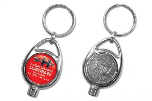 Schlüsselanhänger mit Einkaufs-chip auch Luft, Schlüsselanhänger Coin mit Luft, Schlüsselanhänger,