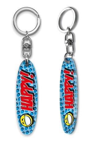 Schlüsselanhänger mit Surfbrett, oder, Schlüsselanhänger Surfboard.