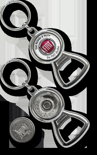 Schlüsselanhänger Einkaufs-chip Flaschenöffner, Metall Schlüsselanhänger Einkaufswagen-chip Flaschenöffner Coiny-Opener