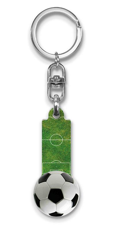 Schlüsselanhänger Fußball, Schlüsselanhänger Sport, Schlüsselanhänger Kunststoff Einkaufs-chip