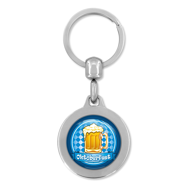 Schlüsselanhänger Oktoberfest, Schlüsselanhänger, Schlüsselanhänger Metall, Schlüsselanhänger aus Metall, Oktoberfest, Werbe Schlüsselanhänger, Schlüsselanhänger Werbung,