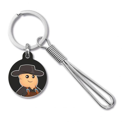 Schneebesen Schlüsselanhänger, Schlüsselanhänger Schneebesen, Schlüsselanhänger, Schneebesen, Werbe Schlüsselanhänger, Werbemittel, Werbeartikel, Werbung