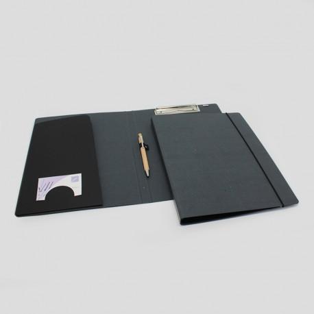 Schreib0mappe aus Anthrazit-Karton, schreibmappe aus anthrazit-pappe, Schreibmappe, Schreibmappen,