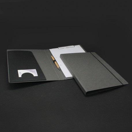 Schreibmappen grau aus Natur-Pappe, schreibmappe grau aus natur-pappe.