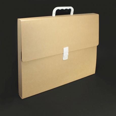 prospektkoffer aus karton din-a3, prospektkoffer DIN-A3,