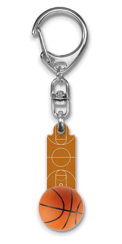 Schlüsselanhänger, Basketball, Schlüsselanhänger basketball mit gravur, Schlüsselanhänger Sport, Schlüsselanhänger Kunstoff, Flexprom Winkelwagen Muntje Basketbal Low-Res.
