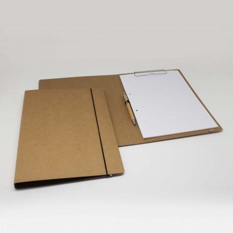 schreibmappe aus natur-pappe, Schreibmappe für DIN-A4, Schreibmappen für DIN-A4